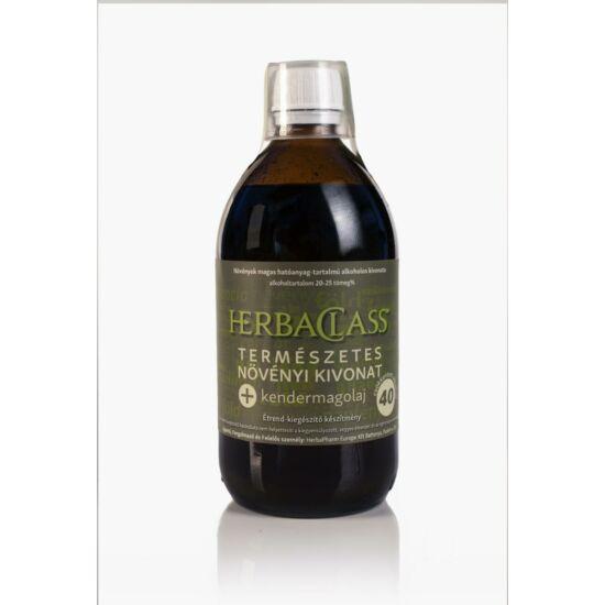 """HerbaClass Természetes Növényi Kivonat """"40"""" (500ml)"""