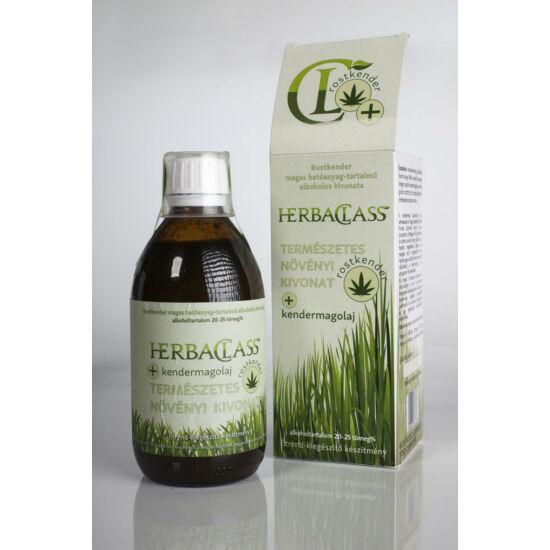 """HerbaClass Természetes Növényi Kivonat """"20"""" - Rostkender+ Kendermagolaj (300ml)"""